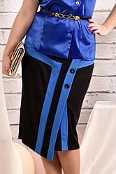 Черная с синим юбка 0458-2