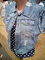 Джинсовая жилетка женская