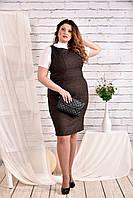 Коричневое платье 0467-2 (на гольфике 0473-1 отдельно)
