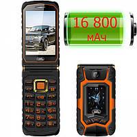 Защищенный телефон Land Rover X9 flip orange IP67 сенсорная раскладушка