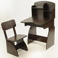 Детская парта + стульчик растущая Венге. F80
