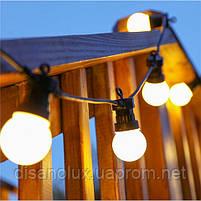 Гирлянда LED  уличная 5м+3м 10ламп шарик 50мм IP65, фото 3