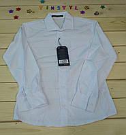 Белая  рубашка   для мальчика на рост 134-170