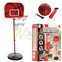 Набор баскетбольный на стойке M 2995, кольцо, насос, щит, мяч