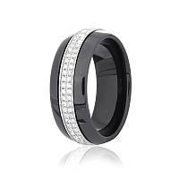 Серебряное кольцо керамическое КК2ФК/1009 - 18,4
