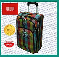 Большой супер лёгкий чемодан на двух колёсах фирмы FOXY LINE