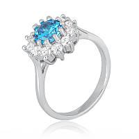 Серебряное кольцо с фианитом КК2ФЛТ/379 - 17,4