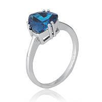 Серебряное кольцо с фианитом КК2ФЛТ/399 - 17,4