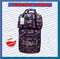 Малый супер лёгкий чемодан на двух колёсах фирмы FOXY LINE +сумка