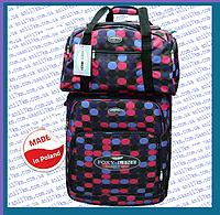 Большой супер лёгкий чемодан на двух колёсах фирмы FOXY LINE +сумка