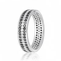 Серебряное кольцо с фианитом КК2ФО/А374 - 17,8