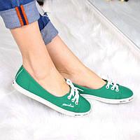 Кеды женские Line зеленые, текстиль