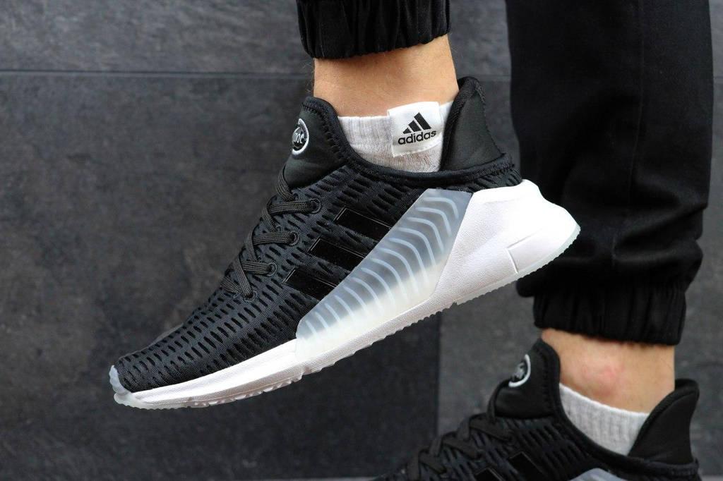 Летние мужские кроссовки Adidas ClimaCool ADV 2017 черные с белым ... a2269dd1b25