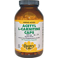 Country Life, Acetyl L-Carnitine Caps, 500 mg, 120 капс