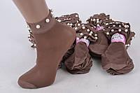 Носки женские капроновые с бусинками Шоколад (C239/CH/2000) | 2000 пар