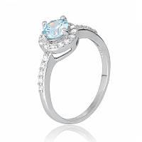 Серебряное кольцо с фианитом КК2ФТ/437 - 19