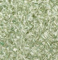 Жидкие обои шелковые № 923 белый с зелеными шелковыми вкраплениями