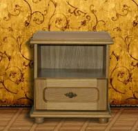 Спальня Эльза ЮрВит (комплект) прикроватная тумбочка(2 шт)