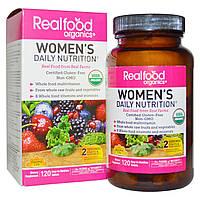 Country Life, RealFood Organics, Women's Daily Nutrition комплекс витаминов и трав для женщин, 120 табл