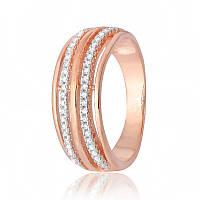 Серебряное кольцо позолоченное с фианитом КК3Ф/213 - 17,1