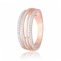 Серебряное кольцо позолоченное с фианитом КК3Ф/216 - 17,1