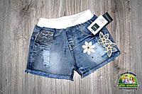 Шорты джинсовые для девочки с апликацией