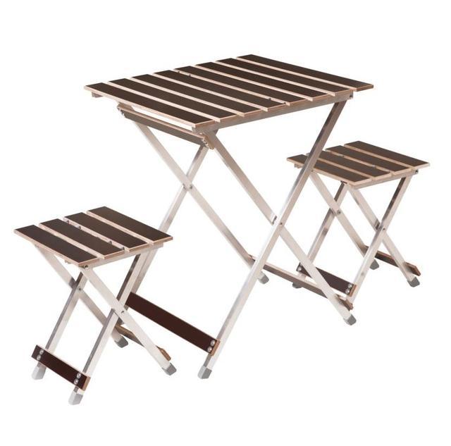 Комплект Aluwood малый стол и 2 стула
