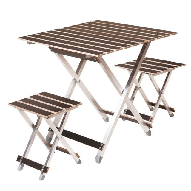 Комплект Aluwood большой стол и 2 стула