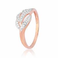Серебряное кольцо позолоченное с фианитом КК3Ф/338 - 19