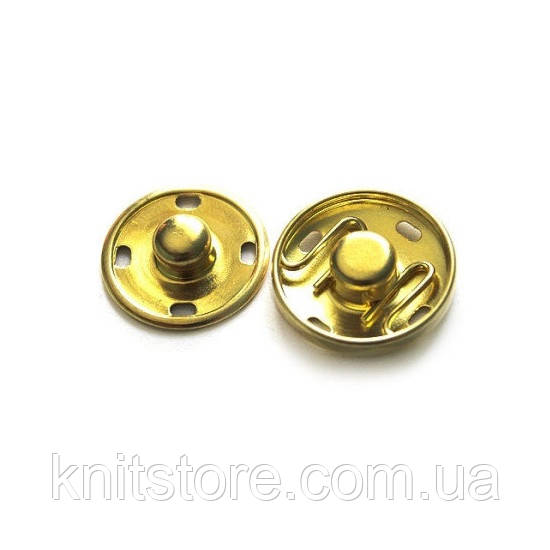 Кнопки пришивные металлические 21мм золото