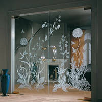 Нанесение пескоструйного рисунка на стекло и зеркало.