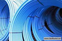 Труба из полиэтилена ПЭТ Ворсклапласт (вторичка) д.25 синяя (200)