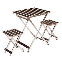 Комплект мебели для пикника Aluwood Стол малый + 2 стула