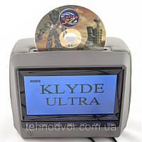 Подголовник с монитором и DVD-проигрывателем KLYDE Ultra 790 FHD Gray (серый)