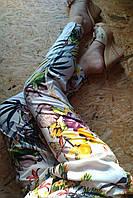 Штаны брюки Алладинки из хлопка 6611 белый 42-46р