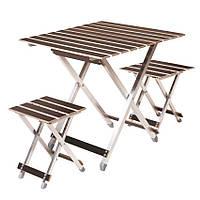 Комплект мебели для пикника Aluwood Стол большой + 2 стула