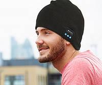Зимняя шапка со встроенной Bluetooth-гарнитурой (Music Hat). Темно-серая