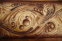 Килимова доріжка бульбашки коричнева