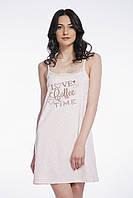 Сорочка нічна жіноча на брительках, для сну, 95% хлопок, ELLEN, LND 004/001