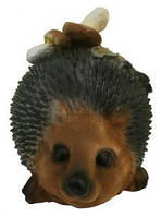 Садовая фигурка Ежик с грибами, h 23 см