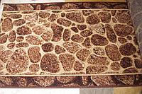 Ковровая дорожка камни коричневая