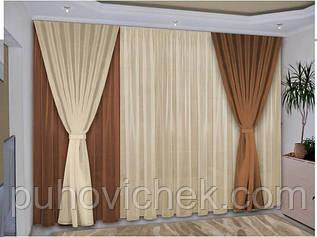 Комплект готовых штор для зала интернет магазин 3