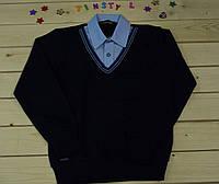 Стильная рубашка -обманка  для мальчика рост 128-134 см