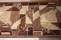 Ковровая дорожка мозаика коричневая
