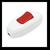 Выключатель для бра белый красная клавиша 129
