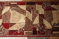 Ковровая дорожка GOLD красно-коричневая мозаика