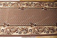 Ковровая дорожка плетение коричневая