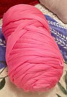 Толстая пряжа шерсть мериноса 100%. Розовый. 21-24 микрон