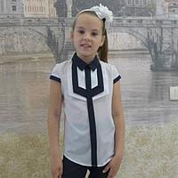 Модная детская блузка с короткими рукавами