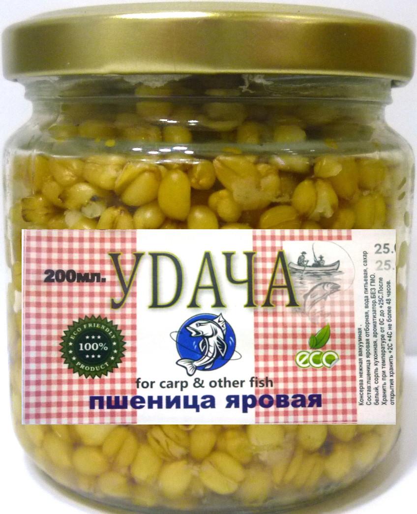 Рыболовная наживка Пшеница яровая Удача, Ваниль, 200мл